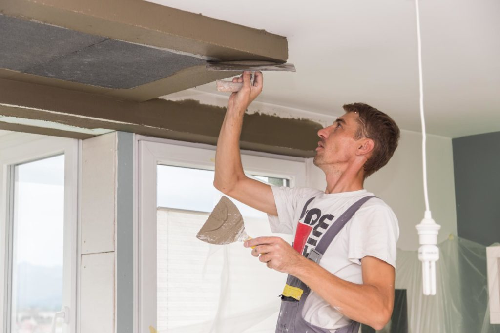 this image shows phoenix apartment popcorn ceiling removal