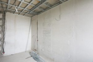 this picture shows apartment popcorn ceiling removal